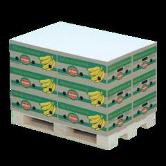 Kubusblok på mini træpalle med logo tryk