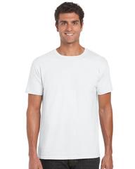 Hvid unisex t-shirt med en god pasform - med logotryk