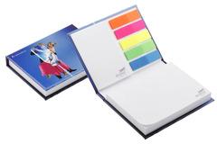 Bog med 2 selvklæbende blokke og 5 farver  markørblade