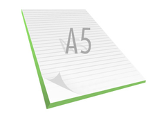 A5 Notesblok med logo. 50 blade