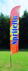 Beachflag med 4 farve CMYK tryk - vælg mellem 12 modeller!