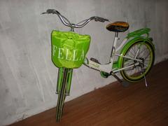 Overtræk til cykelkurv med logo tryk